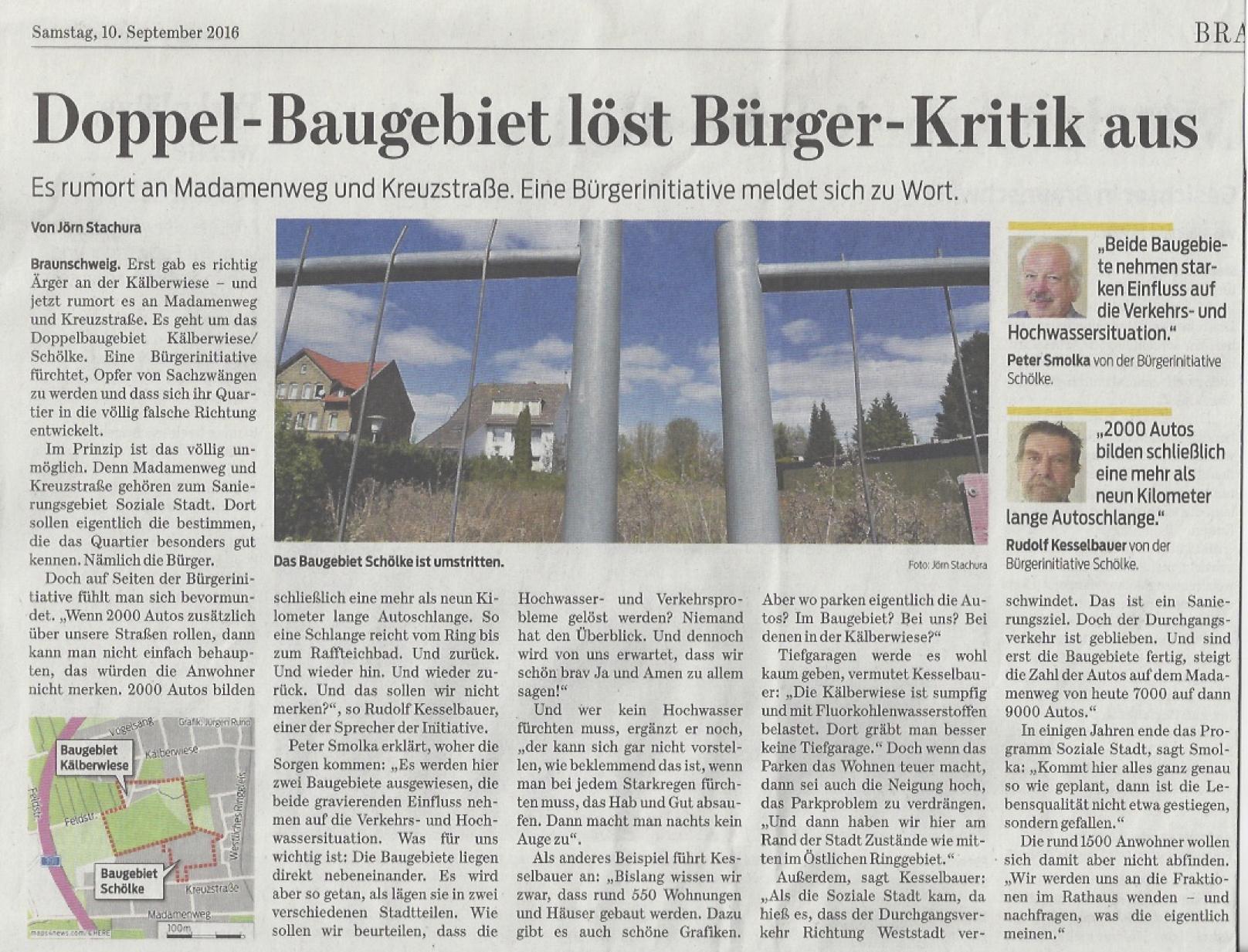 Braunschweiger Zeitung 10.09.2016