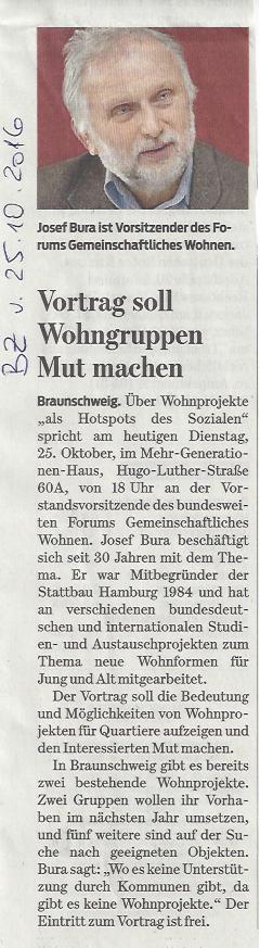 Braunschweiger Zeitung 26.10.2016